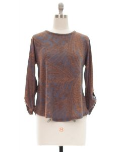 Hacci Printed Top - Taupe