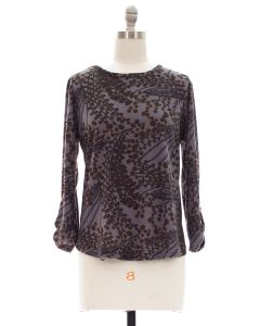 Hacci Printed Top - Charcoal