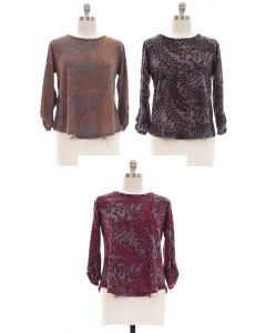 Plus Hacci Printed Top - Assorted