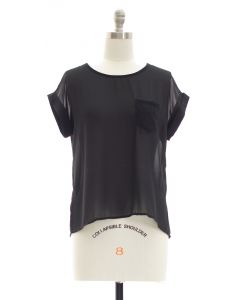 Button Back Blouse - Black