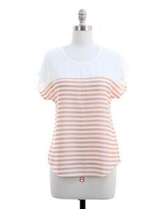 Striped Blouse - Cream - LAST FINAL SALE