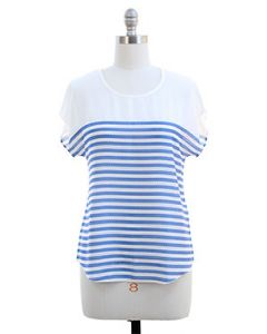 Striped Blouse - Blue - LAST FINAL SALE