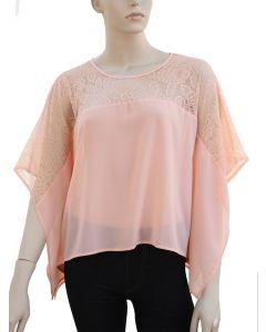 Kimono Lace Blouse - Pink - LAST FINAL SALE