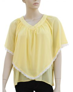 Poncho Blouse - Yellow