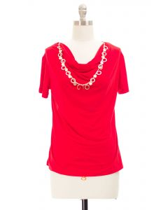 Necklace Top - Red