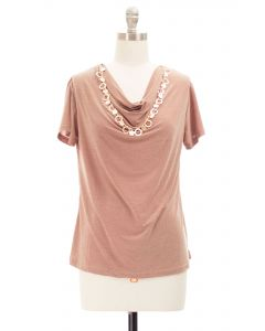 Necklace Top - Taupe