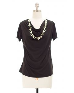 Necklace Top - Black