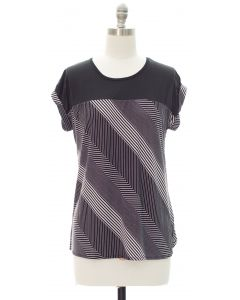 Printed Colorblock Top - Stripe