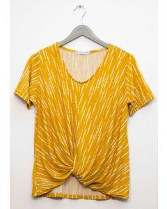 Twist Front Top - Mustard