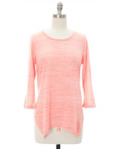 Four Point Hacci Top - Pink