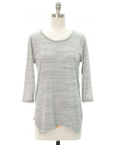 Four Point Hacci Top - Grey