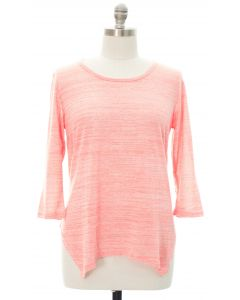 Plus Four Point Hacci Top - Pink