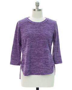 Plus High Low Hacci Top - Purple