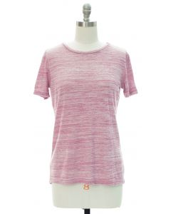 Button Back Hacci Top - Pink