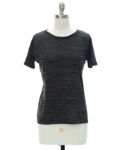 Button Back Hacci Top - Black