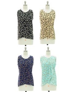 Printed Panel Front Blouse - Assorted