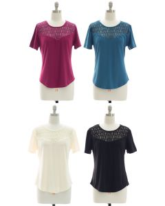 Crochet Yoke Top - Assorted