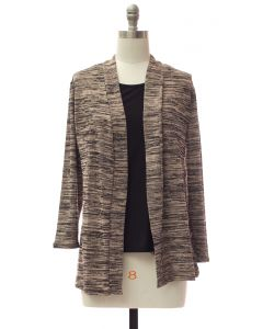 Tufer Hacci Knit Cardigan - Taupe