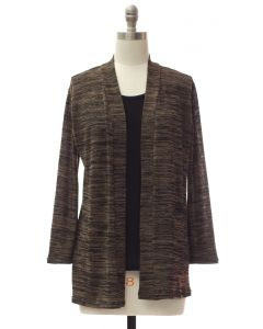 Tufer Hacci Knit Cardigan - Brown