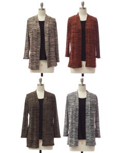 Tufer Hacci Knit Cardigan - Assorted