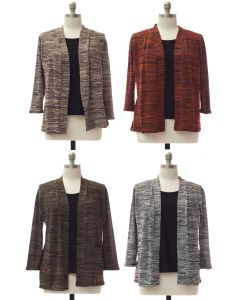 Plus Tufer Hacci Knit Cardigan - Assorted