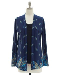 Faux Tufer Knit Cardigan - Midnight Blue