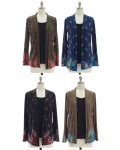 Faux Tufer Knit Cardigan - Assorted