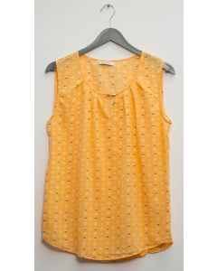 Jewel Keyhole Sleeveless Blouse - Mango