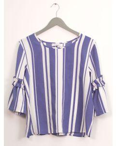 Ruffle Bell Sleeve Blouse - Blue