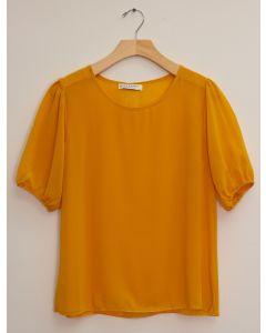 3/4 Puff Sleeve Blouse - Mustard