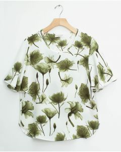 Angel Sleeve Blouse - Olive