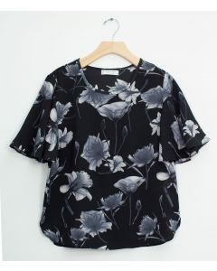 Angel Sleeve Blouse - Black