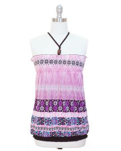 Smocked Halter Top - Pink-SPECIAL PRICE!