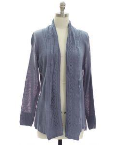 Open Shawl Front Cardigan - Grey