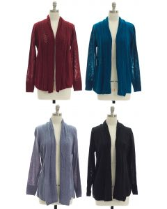 Open Shawl Front Cardigan - Assorted