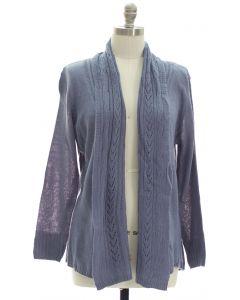 Plus Open Shawl Front Cardigan - Grey