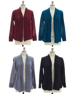 Plus Open Shawl Front Cardigan - Assorted