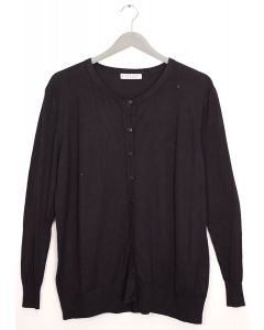 Plus Crew Neck Cardigan - Black
