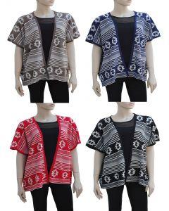 Plus. Tribal Pattern Cardigan - Asst