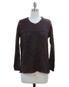 Textured Sweater - Brown