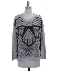 Textured Sweater - Silver
