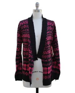 Shawl Cardigan - Hot Pink