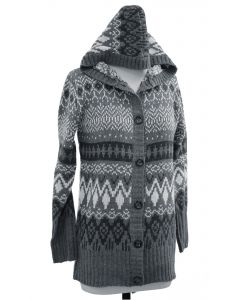 Hooded Sweater Coat - Charcoal