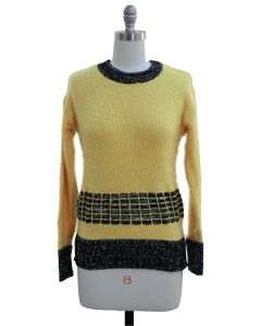 Eyelash Sweater - Yellow