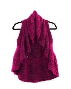 Eyelash Cardigan - Plum