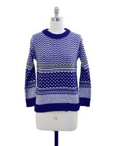 Chevron Sweater - Navy