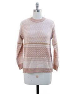 Chevron Sweater - Pink