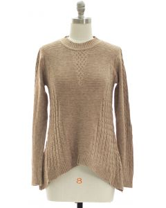 Sharkbite Pullover Sweater - Taupe