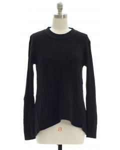 Sharkbite Pullover Sweater - Black