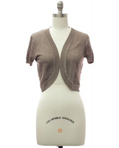 Quilt Knit Bolero - Taupe